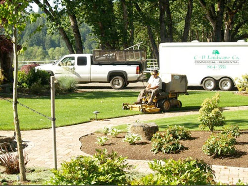 C and d landscape co oregon commercial and residential for Gardening services